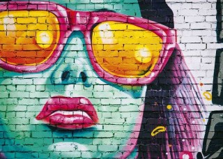 Фототапет графит на женско лице - 12603