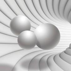 3D Фототапет ефект на тунел в ярък цвят - 10141