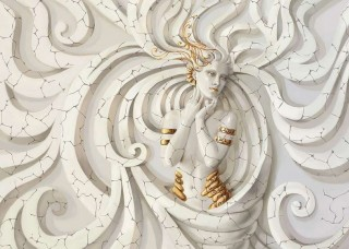 Фототапет богиня със златисти нотки - 10211