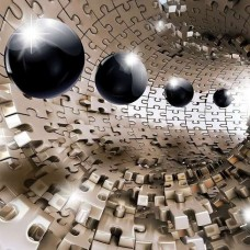 3D Фототапет абстрактни сфери - 10233