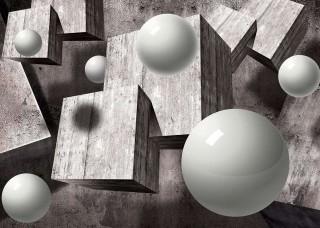 Абстрактен Фототапет сфери и квадрати - 10235