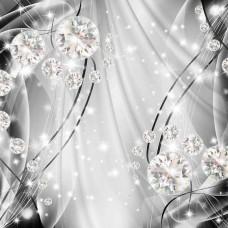 Фототапет кристали на сив фон - 10406