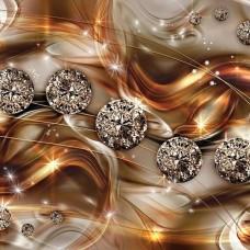 3D Фототапет кристални топки - 10576