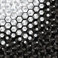 Фототапет минималистични форми в черно и бяло - 10684