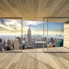 3D Фототапет за спалня изглед към Ню Йорк Сити - 3306