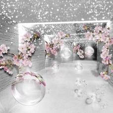 3D Фототапет цветя в коридора - 3360