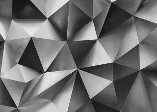 3D Фототапет сиви геометрични форми - 3477