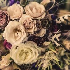 Фототапет избледнял фотоефект с флорални елементи - 12578