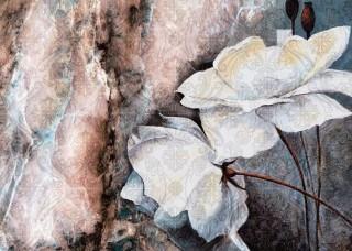 Фототапет акварелна рисунка на цветя - 13528