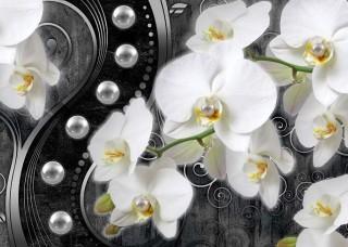 Фототапет  орхидея с диамант - 2973