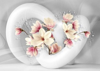 Абстрактен фототапет с цветя - 3375