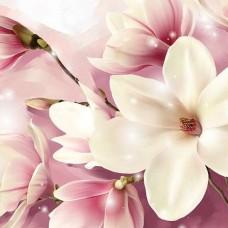Флорален фототапет с розов акцент - 3505