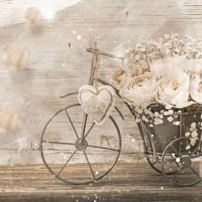 Фототапет ретро велосипед с цветя - 3667