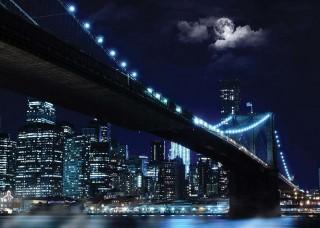 Фототапет Бруклински мост на лунна светлина - 10328