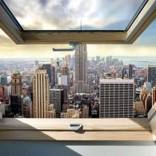 Фототапет прозорец към Ню Йорк - 10415