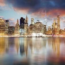Фототапет Манхатън през ноща - 11854