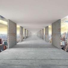 3D Фототапет коридор над  Ню Йорк - 13662