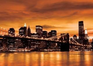 Фототапет Бруклинскят мост по време на залез - 228