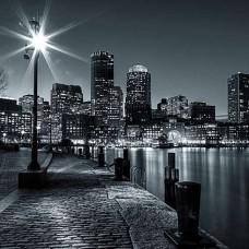 Черно-бял фототапет нощна разходка - 275