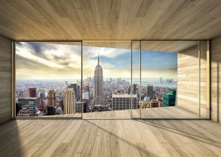 3D фототапет тераса към Ню Йорк - 3306