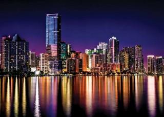 Фототапет отражения на градските светлини през нощта - 855