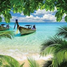 Рибарски лодки на тропическия плаж - 225