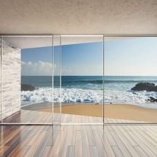 Фототапет 3D гледка към океанския плаж - 3603