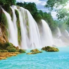 Фототапет красиви тропически водопади - 10386