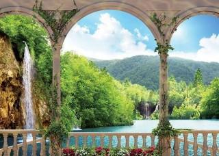 3D фототапет пейзаж с красиво езеро - 1079