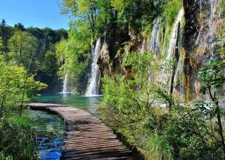 Фототапет пътека над езеро - 11845