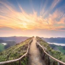 Фототапет пътека над хълмовете - 12661