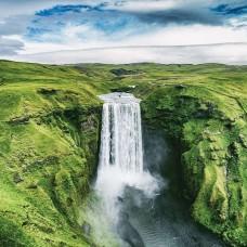 Фототапет водопад сред зеленината - 12985