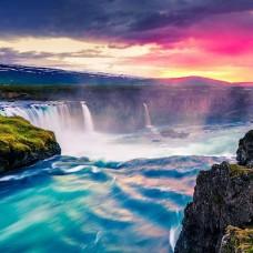 Фототапет волни, пенливи водопади - 13024