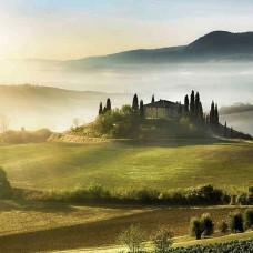 Фототапет сутрин в Тоскана - 13307