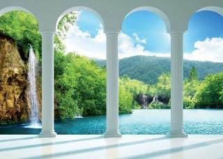 3D Фототапет изглед към езерото - 2353
