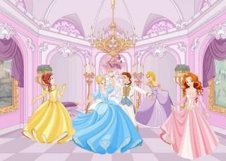 Фототапет принцеси в бална зала - 13237