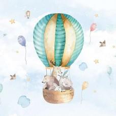 Фототапет за детска стая - балон със животни - 13510