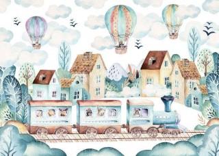 Фототапет с балони над града - 13673