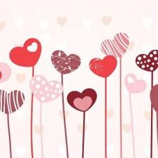 Фототапет балони с форма на сърце - 13118