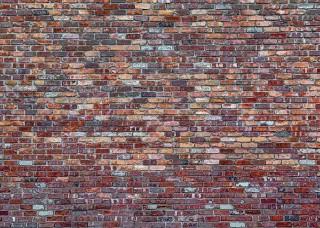 Фототапет с червени и сини тухли - 11975
