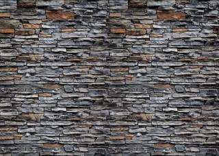 Фототапет стена от сиви и кафяви камъни - 2197