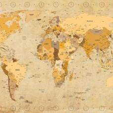 Фототапет карта на света - античен стил