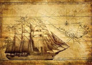 Фототапет старинна морска карта - 022